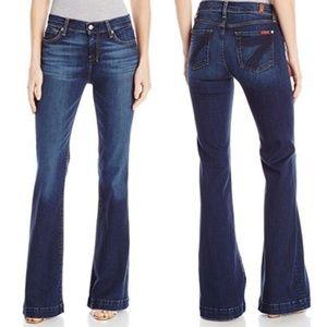7FAM Dojo Wide Leg Flare Jeans